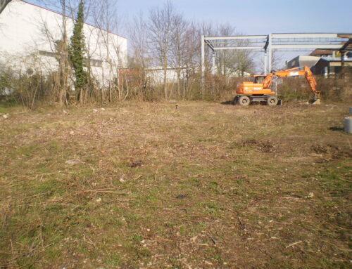 Baustellenfortschritt Freiflächengestaltung GO20-Zentrum