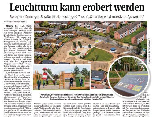 Eröffnung Spielpark Danziger Straße Bergen