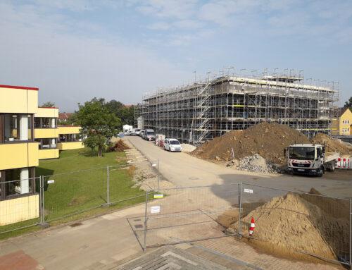 Baufortschritt Freianlagen zum Mensa-Neubau Universität Hildesheim