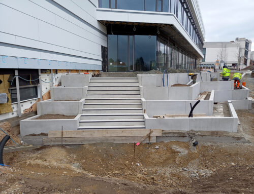 Stufenterrasse nimmt Form an